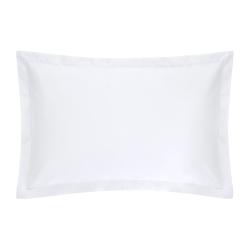 1000TC Cotton Sateen Oxford pillowcase, 50 x 75cm, Snow