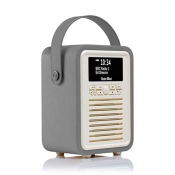 Retro Mini DAB radio, H22.4 x W14.7 x D10.5cm, dark grey