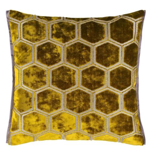 Manipur Cushion, H43 x W43cm, Ochre