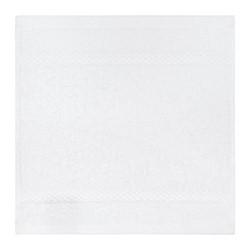 Egyptian Cotton Set of 3 face cloths, 30 x 30cm, white