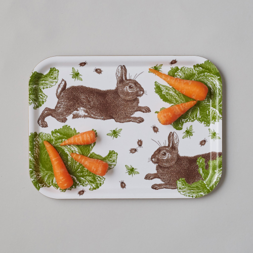 Classic Rabbit & Cabbage Large tray, 33 x 43cm