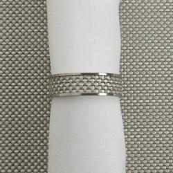 Mini Basketweave Napkin ring, 4cm, aloe