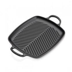 Signature Cast Iron Rectangular grill, 30cm, satin black