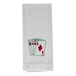 Playing Cards Hand towel, 38 x 58cm, cotton