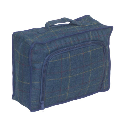 Blue Tweed Cooler bag, 37 x 27 x 14cm