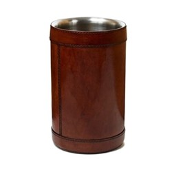 Single wine cooler, H21 x D13.5cm, conker brown