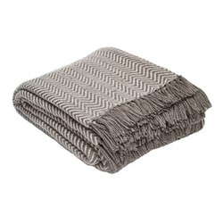 Herringbone Throw, L230 x W130cm, tabby