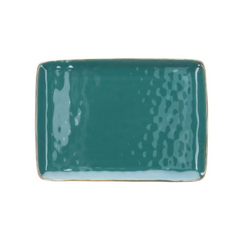 Concerto Pair of rectangular trays, L27 x W19cm, Teal Blue