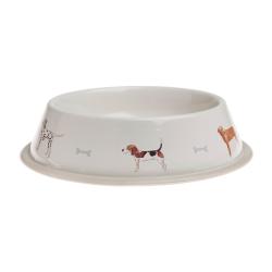 Woof! Large dog bowl, Dia30cm, galvanised steel
