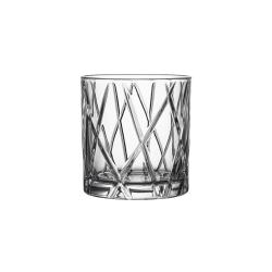 City Set of 4 Whisky Glasses, 34cl - H9.1 x W8.6cm, glass