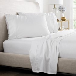 Tencel King size fitted sheet, 152 x 203 x 38cm, white