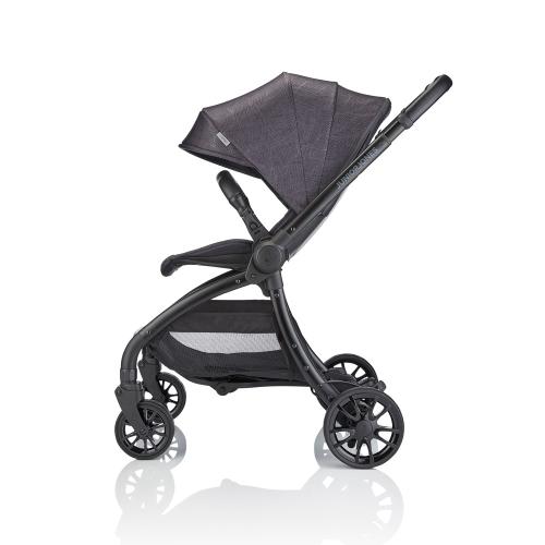 J-spirit Stroller, Graphite black, H108 x W54 x L72cm, Black