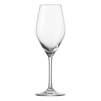 Vina Set of 6 champagne tulip glasses, H21.2 x D7cm - 270ml, clear