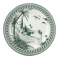 Les Depareillées - Vues d'Orient Set of 6 dessert plates, 22cm, green