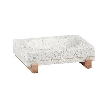 Quartz Soap dish, L13 x W9 x H4cm, terrazzo