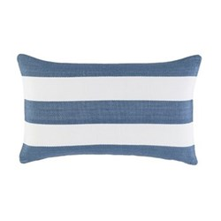 Fresh American - Catamaran Polypropylene indoor/outdoor cushion, L61 x W38cm, denim/white