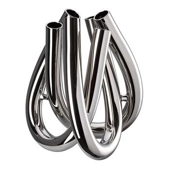 Triu Vase, 22cm, silver
