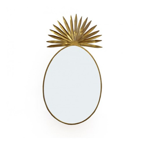 Pineapple Large mirror, Dia100cm, Gold
