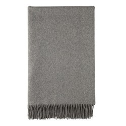 Plain Woven bed throw, 230 x 150cm, granite