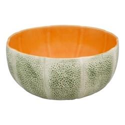 Melon Salad bowl, 25 x 11cm, green/orange