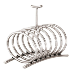 Bamboo Toast rack, silver plate