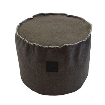 Fabric Footstool, Dia40 x 50cm, grey