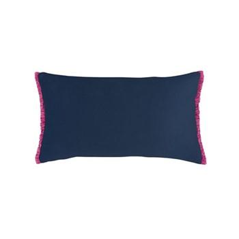 Fringe cushion, 50 x 30cm, navy