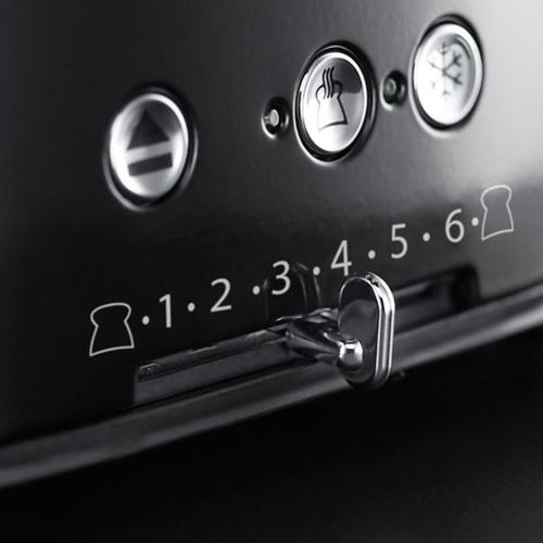Retro - 21691 Toaster, 4 slice, black