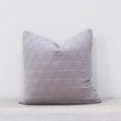 Stockholm Cushion, 50 x 50cm, pewter grey