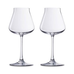 Chateau Baccarat Pair of white wine tasting glasses, H20.5cm - 36cl, white