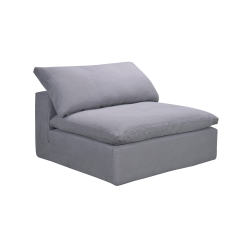 Truman Armless sofa, W110 x H60 x D110cm, Grey Linen