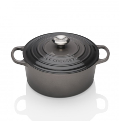 Signature Cast Iron Round casserole, 24cm - 4.2 litre, Flint