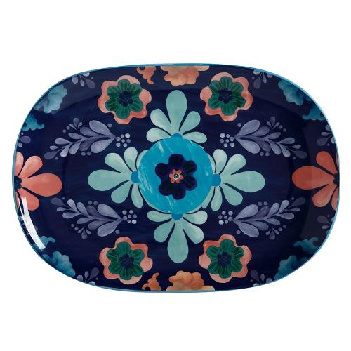 Majolica Majolica Ceramic Oblong Serving Platter Gift Boxed, Multi