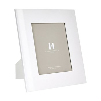 "Lacquer Photograph frame, 8 x 10"", white"