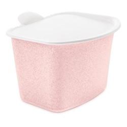 Bibo Food waste bin, H16 x W20.8 x L22.5cm, organic pink