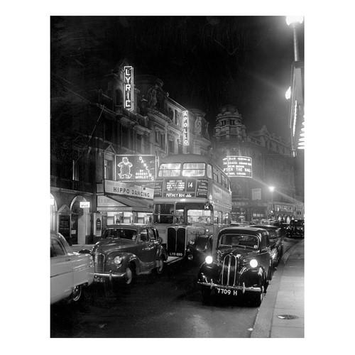 Street Night Framed photograph, H71 x W61cm