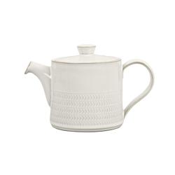 Natural Canvas Teapot, 0.92 litre, textured