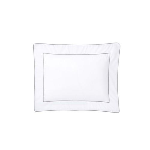 Flandre - 200 Thread Count Cotton Percale Oxford Pillowcase, L75 x W50cm, Platine
