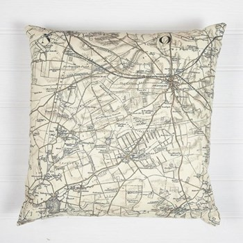 Cushion with personalised map, 60 x 60cm