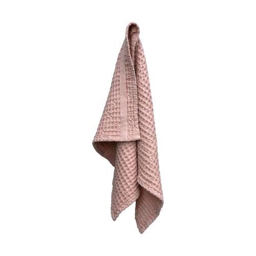 Waffle Hand towel, 50 x 75cm, Pale Rose