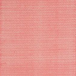 Herringbone Woven cotton rug, W61 x L91cm, coral