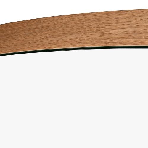 Orta Drop mirror, H90 x D90cm, Oak