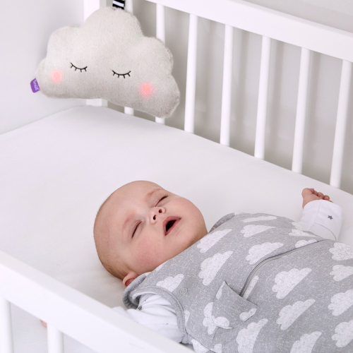 SnuzCloud Baby sleep aid, H16.5 x W9 x L24.5cm, Grey