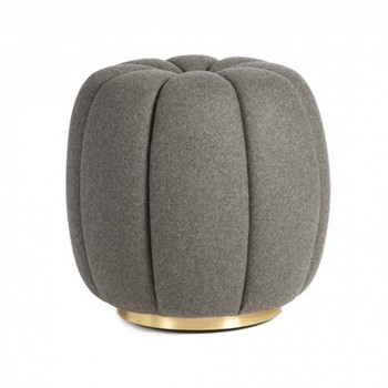 Sofia Footstool, H50 x D47cm, graphite wool