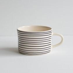Horizontal Stripe Set of 6 mugs, H7 x W10.5cm, grape