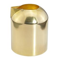 Form Milk jug, D7.5 x H9cm, brass