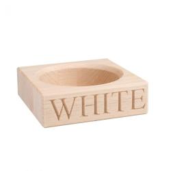 White Wine bottle holder, 3 x 10.5 x 10.5cm, beech wood