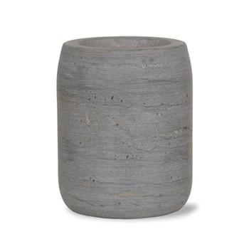 Utensil holder, 15 x 12cm, raw marble
