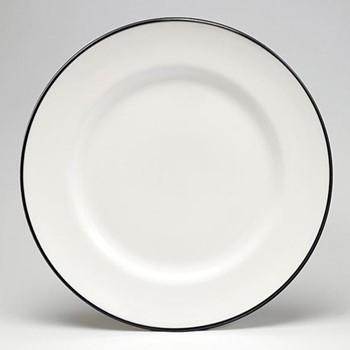 Dinner plate, 26cm, black/white