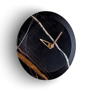 Bari S Sahara Noir Wall hanging clock, D24cm, sahara noir marble